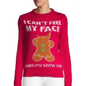 Christmas Holiday Gingerbread Man Sweater NEW